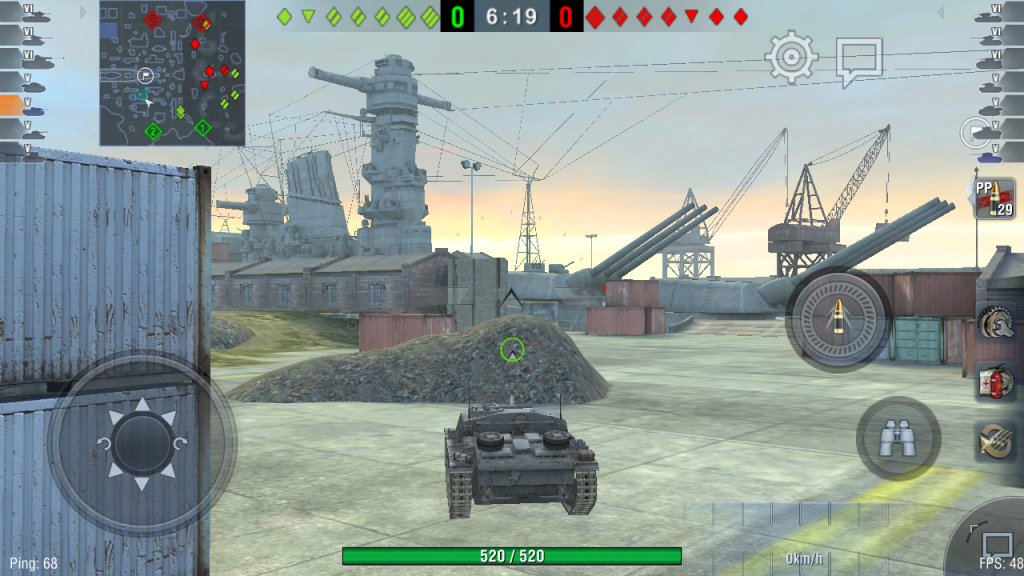 Com os gráficos no mínimo é possível jogar World of Tanks sem sermos massacrados.