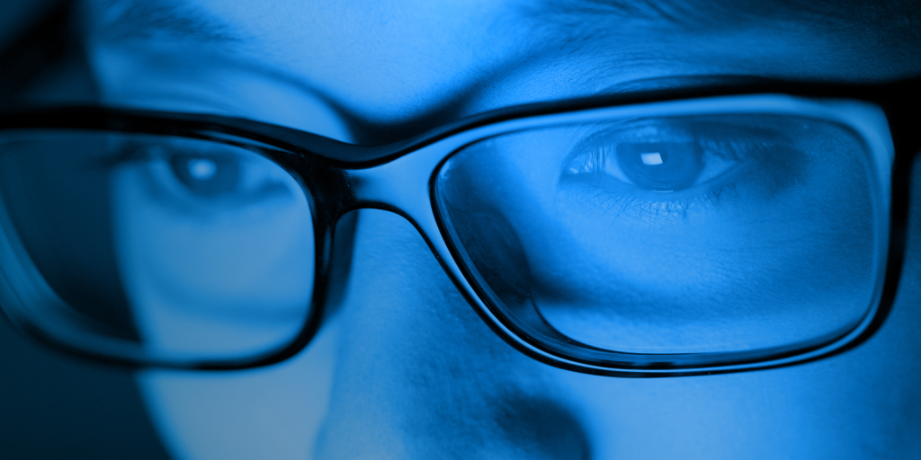 blue-blocking glasses