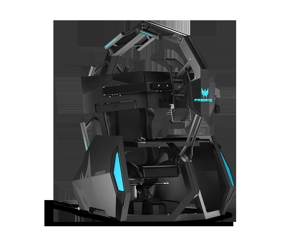 Acer Predator Thronos, a cadeira gaming com três monitores